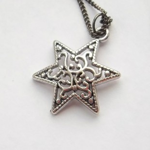 Цепочка с ажурным кулоном Маген Давид (Звезда Давида)