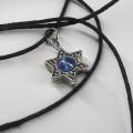 Объемный Маген Давид (Звезда Давида) с голубой бусиной