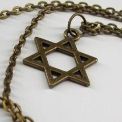 Цепочка с бронзовым кулоном Маген Давид (Звезда Давида)