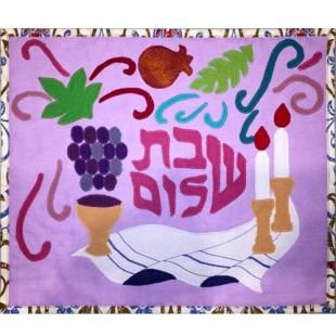 Покрывало для халы «Краски шабата», 39х34 см