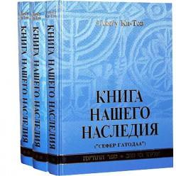 Книга нашего наследия. В 3 томах (Элиягу Ки-Тов)