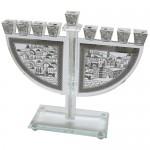 Ханукия «Серебряный кристалл» (Ханукальный подсвечник), 29 см