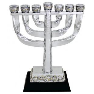 Израильская менора (подсвечник семисвечник), 20 см