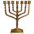Менора HEN-HOLON-ISRAEL бронзовая (подсвечник семисвечник)