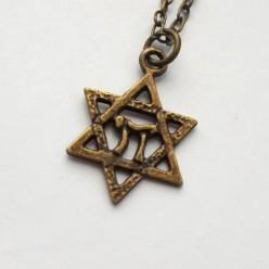 Цепочка с бронзовым кулоном Хей Маген Давид (Звезда Давида)