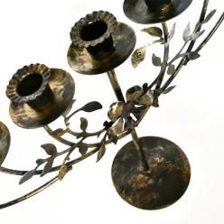 Менора «Винтаж с цветком» (подсвечник семисвечник), 32х45 см