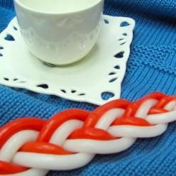 Свеча для авдалы (белый, красный)