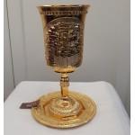 Бокал для кидуша Элиягу а-Нави «Иерушалаим золотой», 25 см (уценка)