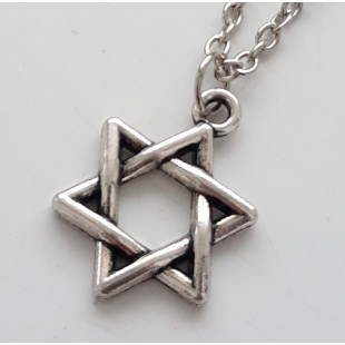 Серебристый кулон Маген Давид (Звезда Давида) объемный