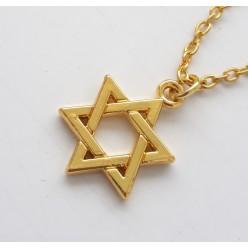 Золотистый кулон Маген Давид (Звезда Давида)