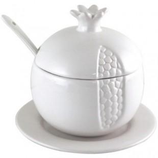 Блюдо для мёда «Белый гранат»