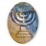 Еврейская шкатулка с изображением меноры