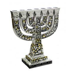 Менора «Древний Иерусалим» (подсвечник семисвечник), 18 см