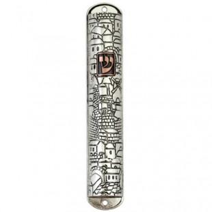 Мезуза из никеля «Ямин Моше», 15 см