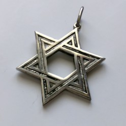 Серебряная подвеска Звезда Давида «Средняя»
