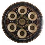 Пасхальное блюдо с темным орнаментом, 35 см