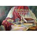 Картина «Натюрморт с ханукией» (масло)