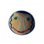 Кипа вязаная «Улыбка», ручная работа,12 см