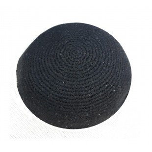 Кипа черная (сруга), 18 см