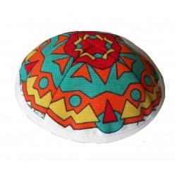 Детская кипа с разноцветными узорами (Пурим)