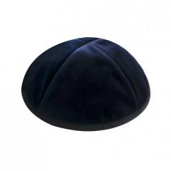 Кипа синяя бархатная, 16 см