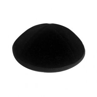 Кипа черная эко-замш, 14 см