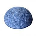 Кипа синяя глубокая, 15 см (ручная работа)