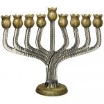 Ханукия «Гранат золотой» (Ханукальный подсвечник), 25 см