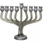 Ханукия «Гранат серебряный» (Ханукальный подсвечник), 25 см