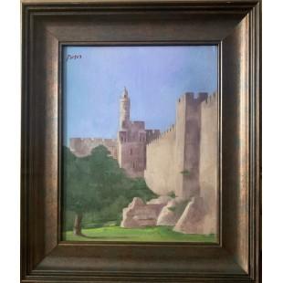 Картина «Башня Давида» (масло). Александр Рудник