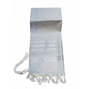 Талит шерсть белый, 140х190 см