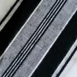 Талит акрил (чёрные и золотые полосы), 140х190 см