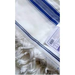 Талит акрил (синие и золотые полосы), 130х185 см