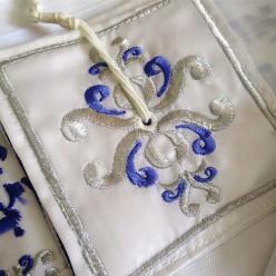 Талит (синие и серебряные полосы)